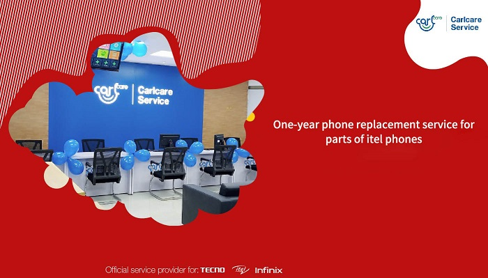 one year phone replacement service for parts of itel phone