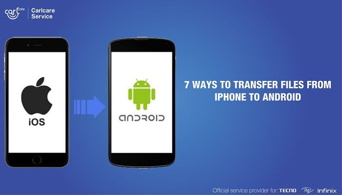 How to transfer files from iphone to android