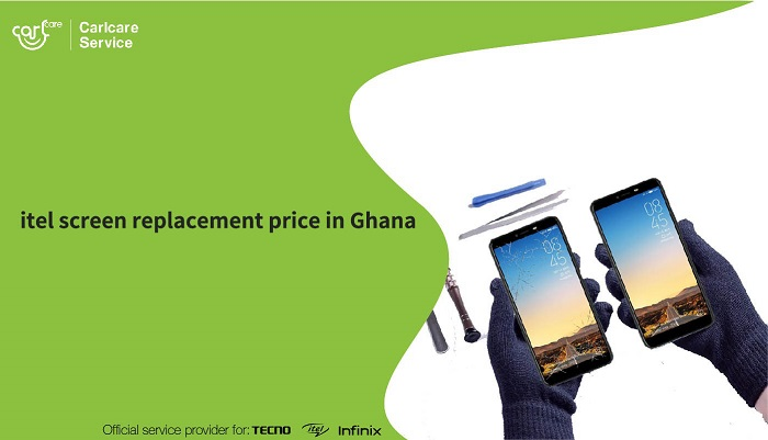 itel screen replacement price in ghana