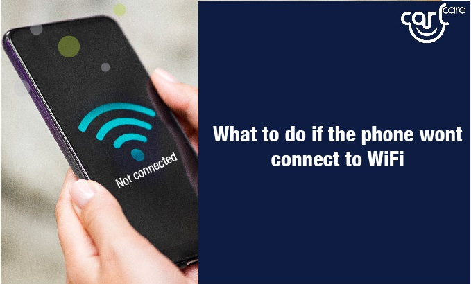phone won't connect to wifi