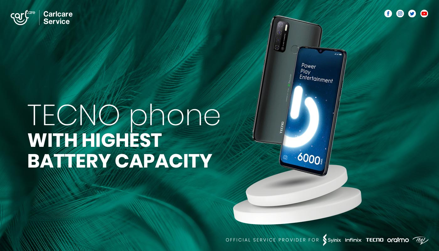 TECNO Phone with Highest Battery Capacity