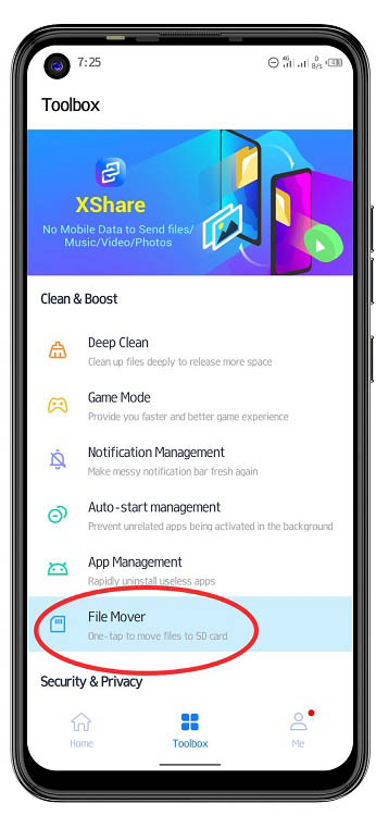 move files using phone master
