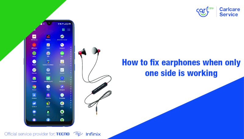 How to fix earphones when only one side is working