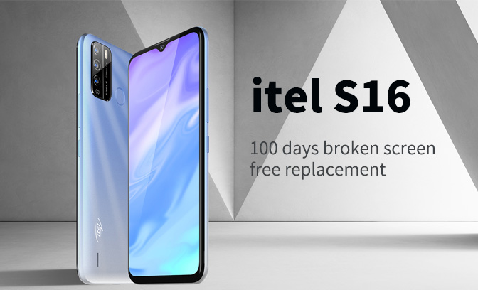 itel s16 100 days free screen replacement