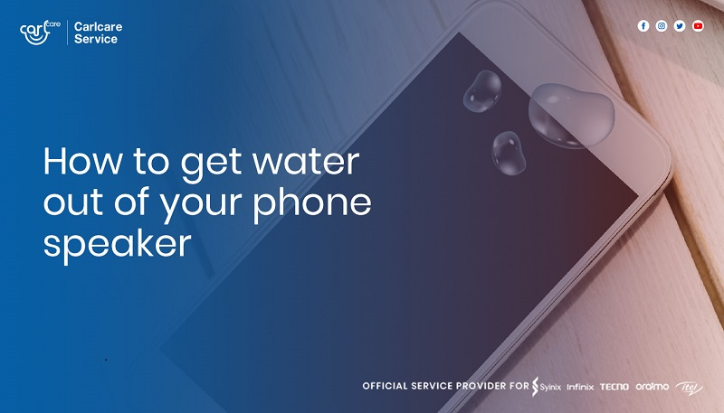 how to get water out of phone speaker