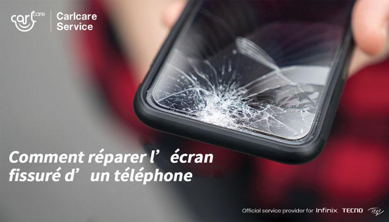 Comment réparer l'écran fissuré d'un téléphone