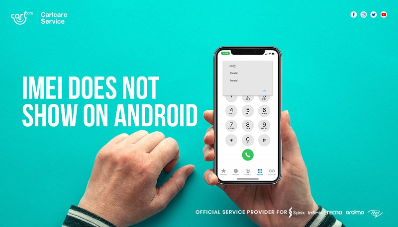 imei not showing on android