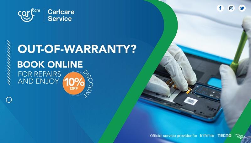 carlcare 10% off out-of-warranty phone repair service