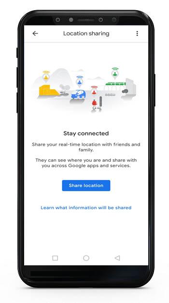 share location in google