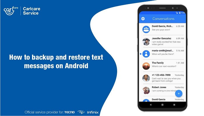 backup and restore text messages on android