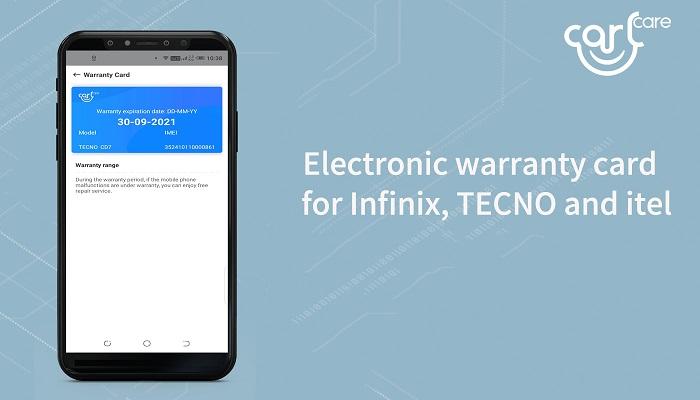 carlcare electronic warranty card