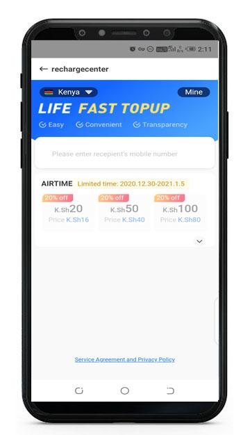 buy mobile top up in kenya