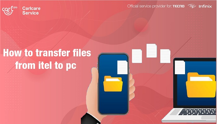 transfer files from itel to pc
