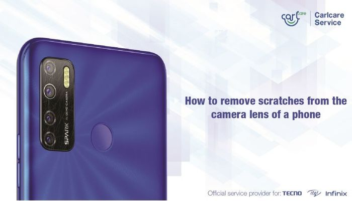How to remove scratches from the camera lens of a phone