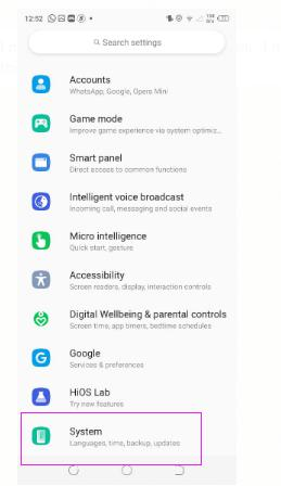 How to Update TECNO System Software