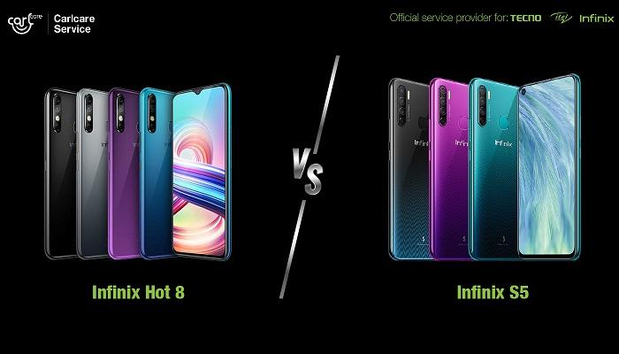 infinix hot 8 vs infinix s5