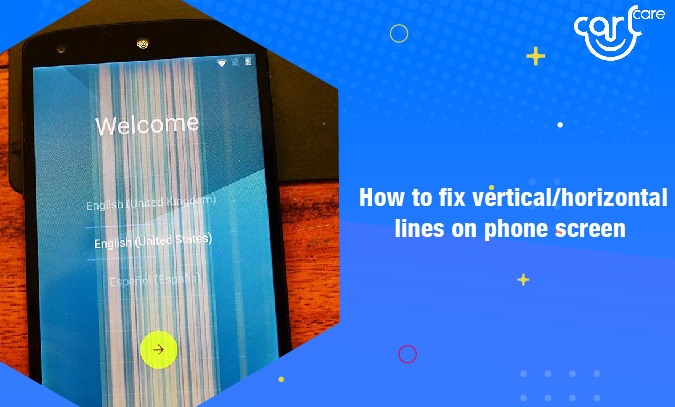 fix vertical or horizontal lines on phone