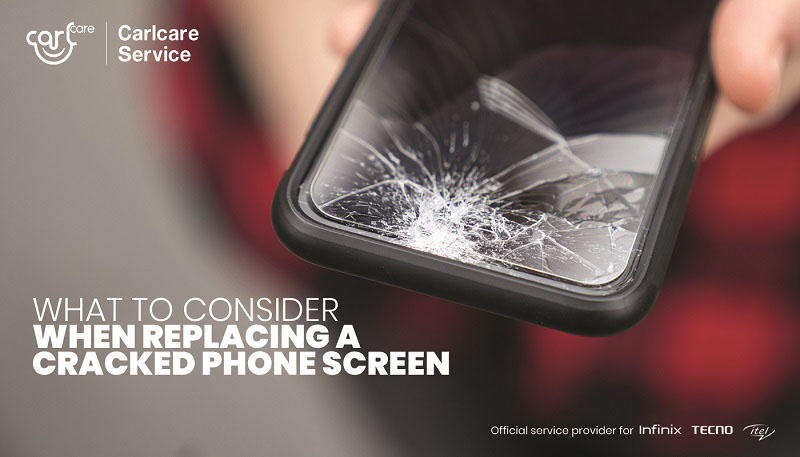 what to consider when replacing a cracked phone screen