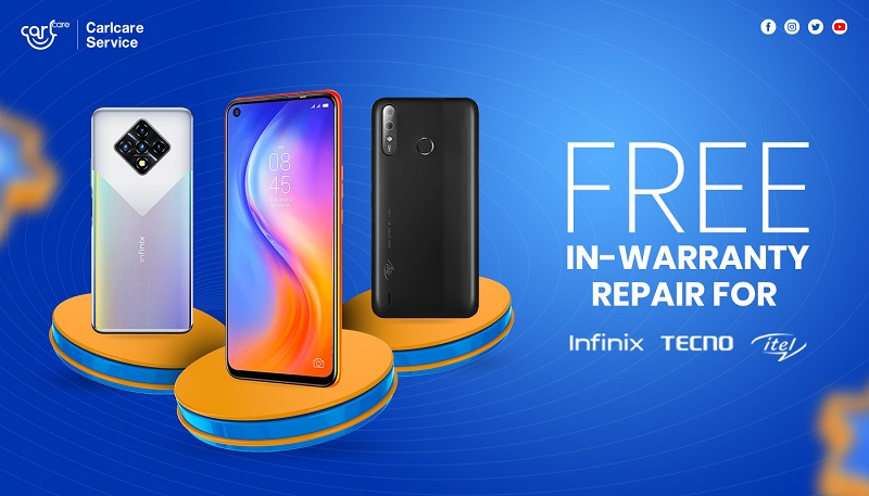 free in-warranty repair for infinix, tecno and itel