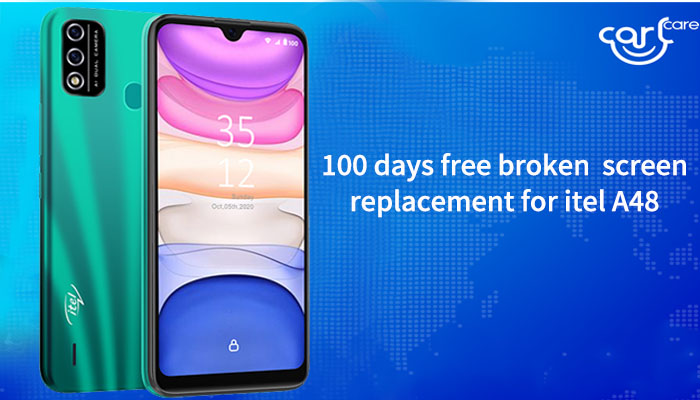 free broken screen replacement for itel a48