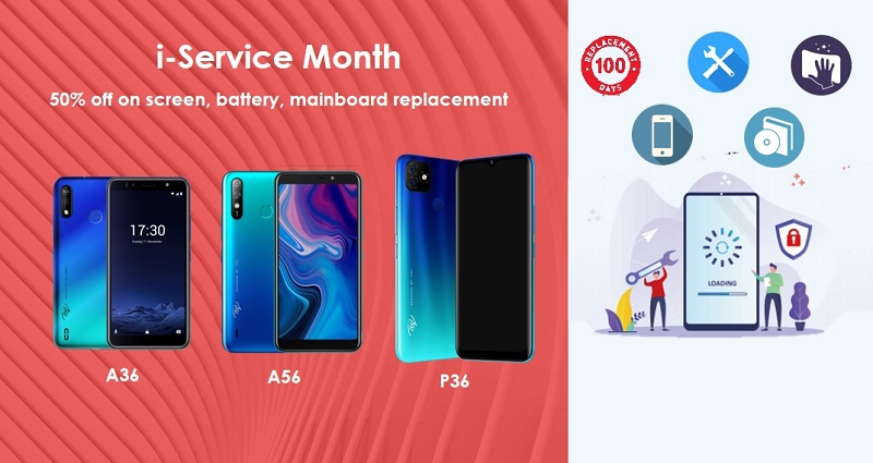 i-Service Month: Half-Price/Free Maintenance Service for Itel Users