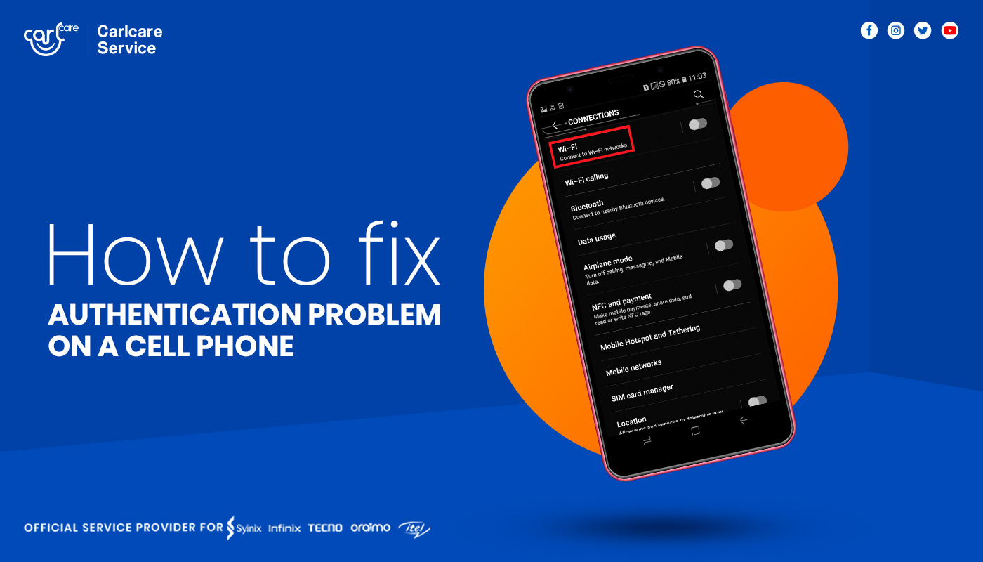 How to Fix Authentication Problem on a Cell Phone