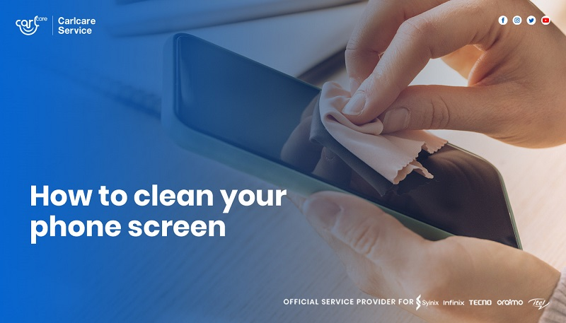 how to clean phone screen