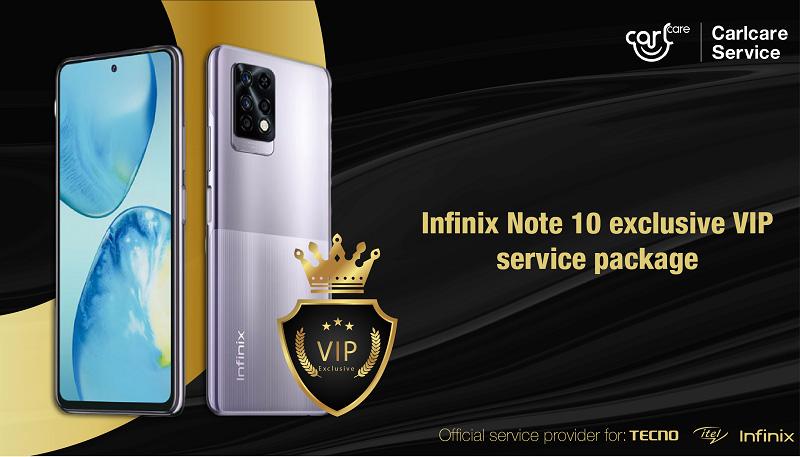 infinix note 10 VIP service