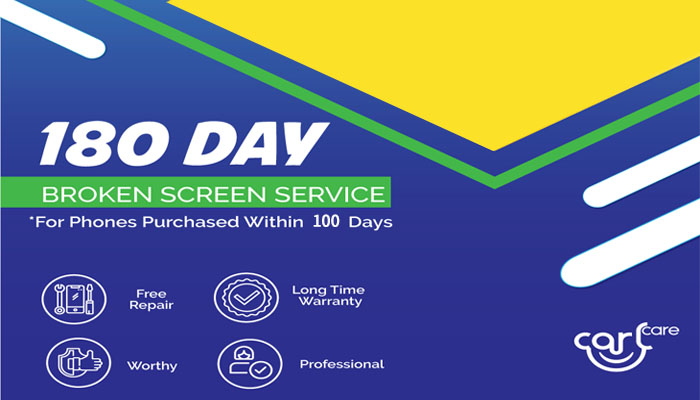 180 days free screen replacement